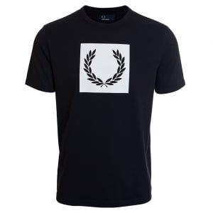 Fred Perry M3601 Printed Laurel Wreath T-Shirt Black