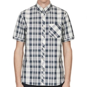 Fred Perry M3532 Bold Check S/S Shirt Ombre Blue
