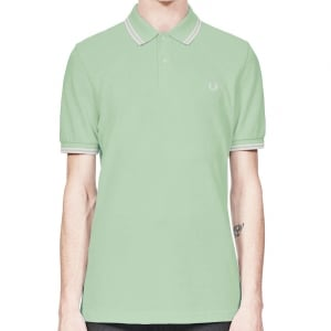 Fred Perry M3600 Twin Tipped Polo Mint