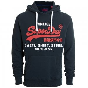 Superdry Sweat Shirt Shop Duo Hoodie Eclipse Navy