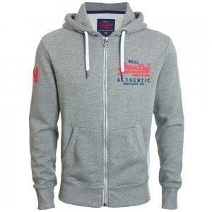 Superdry Vintage Authentic Duo Zip Hoodie Phoenix Grey Grit