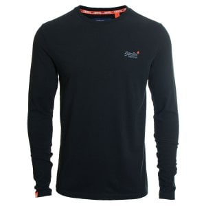 Superdry Orange Label Vintage Embroidery L/S T-Shirt Black