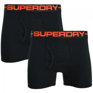 Superdry Sport Boxer Double Pack Black/Black