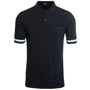 Fred Perry M4566 Bold Cuff Polo Black