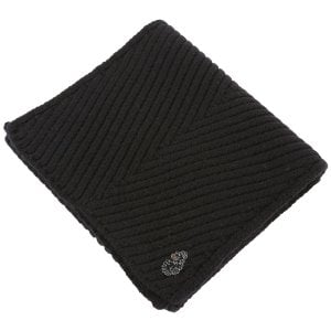 Luke 1977 Rulston Knitted Scarf Black