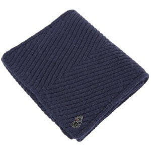 Luke 1977 Rulston Knitted Scarf Navy