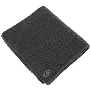 Luke 1977 Rulston Knitted Scarf Charcoal Marl