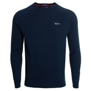 Superdry Orange Label Crew Knitwear Classic Navy