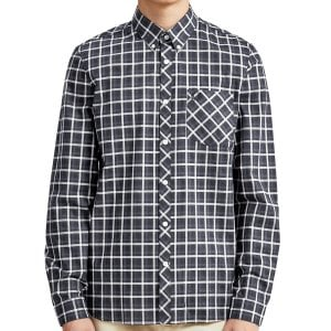 Fred Perry M5550 Four Colour Gingham L/S Shirt Navy