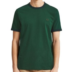 Fred Perry M3519 Ringer T-Shirt Ivy