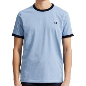 Fred Perry M3519 Ringer T-Shirt Sky