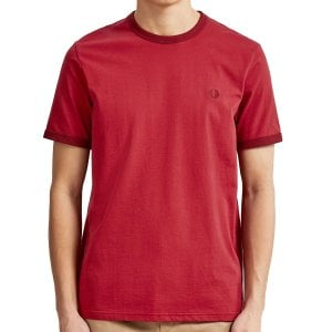 Fred Perry M3519 Ringer T-Shirt Rich Red