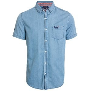Superdry Miami Loom S/S Shirt Vintage Blue Wash
