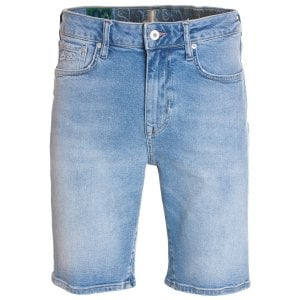 Superdry Tyler Slim Denim Shorts Kirk Authentic Blue