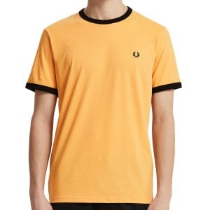 Fred Perry M3519 Contrast Ringer T-Shirt Apricot Nectar