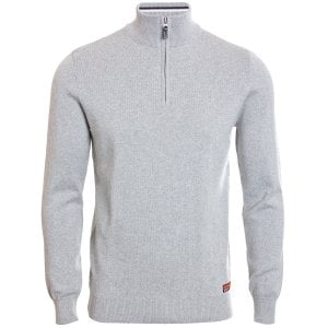 Superdry Downhill Racer Henley Knitwear Light Grey Grit