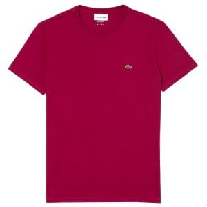 Lacoste TH6709 Crew T-Shirt Bordeaux