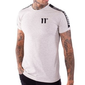 11 Degrees Taped Muscle Fit T-Shirt Tornado Marl