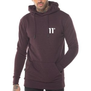 11 Degrees Core Hoodie Mulled Red