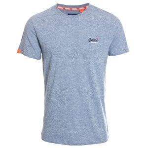 Superdry Orange Label Vintage Embroidery T-Shirt Creek Blue Grit Grindle