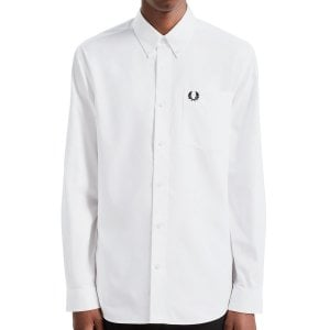 Fred Perry M7550 Oxford L/S Shirt White