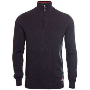 Superdry Downhill Racer Henley Knitwear Black