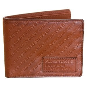 Superdry AOP Badge Lineman Wallet Light Brown