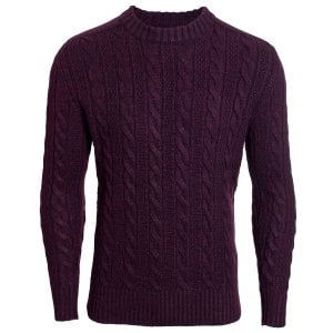 Superdry Jacob Crew Knitwear Bright Buck Burgundy Twist