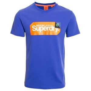 Superdry Core Logo Tag T-Shirt Royal Blue