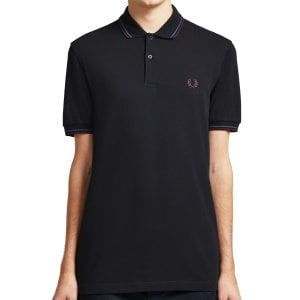 Fred Perry M3600 Twin Tipped Polo Black Blu/Mah