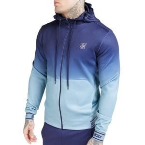 SikSilk Agility Zip Through Hoodie Urban Blue/Grey