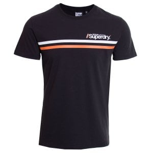 Superdry Core Logo Sport Stripe T-Shirt Black
