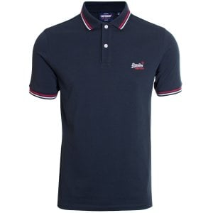 Superdry Classic Micro Lite Tipped Polo Eclipse Navy