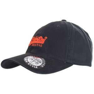 Superdry Orange Label Cap Black