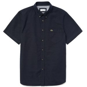 Lacoste CH4975 Oxford S/S Shirt Navy