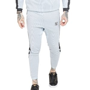SikSilk Athlete Eyelet Tape Track Pants Ice Grey/Charcoal