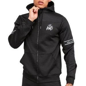 Kings Will Dream Vesy Woven Poly Zip Hoodie Black