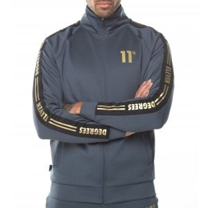 11 Degrees Taped Poly Track Top Anthracite/Gold