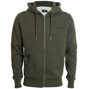 Superdry Orange Label Classic Zip Hoodie Winter Khaki Grit