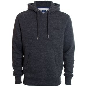 Superdry Orange Label Classic Hoodie Black Snow Heather