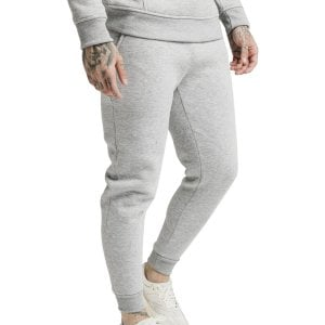 SikSilk Muscle Fit Joggers Grey Marl