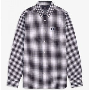 Fred Perry M9500 Gingham L/S Shirt Carbon Blue