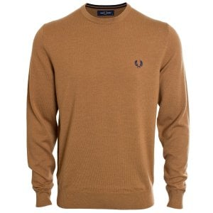 Fred Perry K9601 Classic Crew Knitwear Caramel