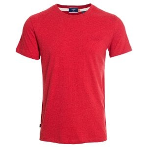 Superdry OL Vintage Embroidery T-Shirt Shock Fire Red Grit