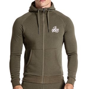 Bee Inspired Signature Zip Hoodie Khaki