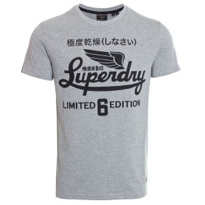 Superdry Military Graphic T-Shirt Grey Marl