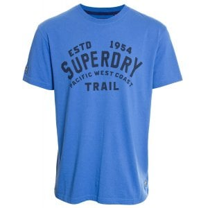 Superdry Heritage Mountain Relaxed T-Shirt Classic Blue