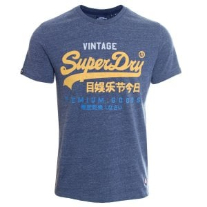 Superdry VL Tri T-Shirt Navy Marl