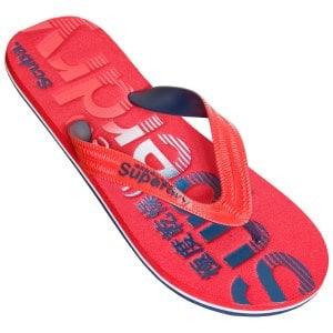 Superdry Classic Scuba Flip Flops Red