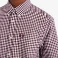Fred Perry M9604 Gingham S/S Shirt Mahogany
